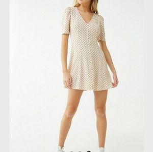 Brand new forever 21 abstract dot print mini dress